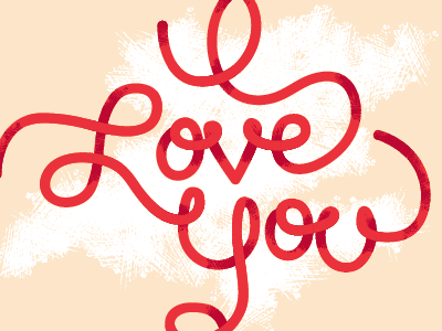 I Love Yarn yarn ribbon typography lettering custom i love you