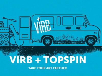 The Virb Van conversion van bands gigs virb illustration blue museo sans