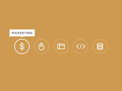 Scenery Work Icons back end integration front end development ui ux marketing icons