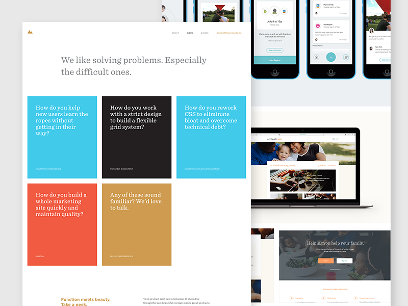 The Scenery / Work Page clients ui sentinel grid simple problems portfolio work