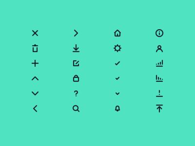 Custom UI Icons rounded strokes ui icons