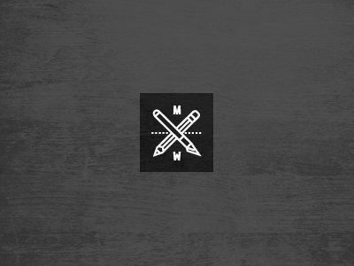 Proudly Made in the Midwest logo icon midwest made pencil knife cross x black white