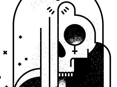 What you are I once was. illustration reaper skull sword grit vector brushes white black