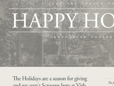 Happy Virb Holidays