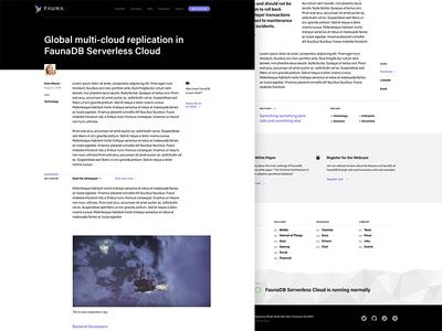 Fauna Blog databases editorial blogs