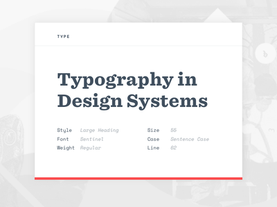Typography in Design Systems ether sentinel typography design design systems