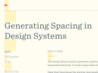 Generating Spacing in Design Systems ether sentinel spacing design design systems