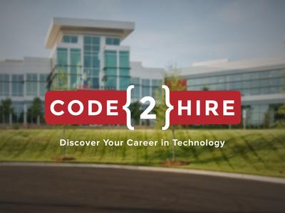 Code2Hire Logo Design illustrator mark identity design logo