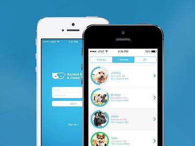 ARFP App Concept non profit app design mobile minimal flat design ux ui design