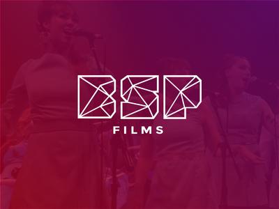 BSP Films Logo Design bsp films film illustrator mark identity design logo