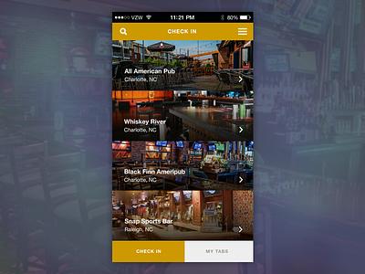 Bar Tab App Concept ios bars user experience ux user interface ui mobile app design design