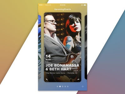 Event Manager UI card ui tickets event mobile macaffinity dailyui