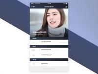 Contact Card UI