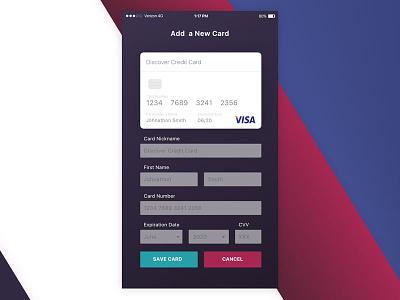 Digital Wallet UI ui visa payment credit card wallet mobile macaffinity dailyui