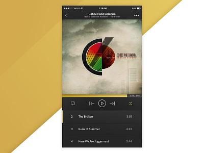 Music Player UI playlist player ui album mobile music macaffinity dailyui