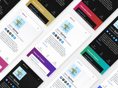 HubbleJS - Developer Portfolios open source gradients patterns github hubblejs portfolio developer