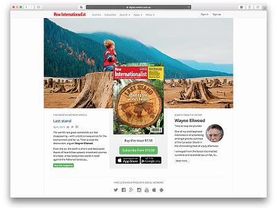 New Internationalist magazine re-design redesign digital edition website magazine new internationalist newint