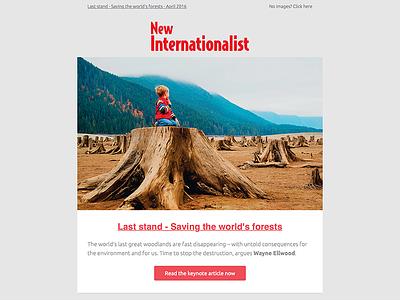 New Internationalist email newsletter redesign newsletter email new internationalist newint