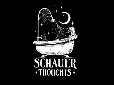 Merch for Sarah Schauer! water shower stars logo design bathtub skeleton logo apparel design