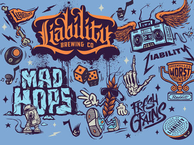 Liability Brewing Company Flash / Can Designs