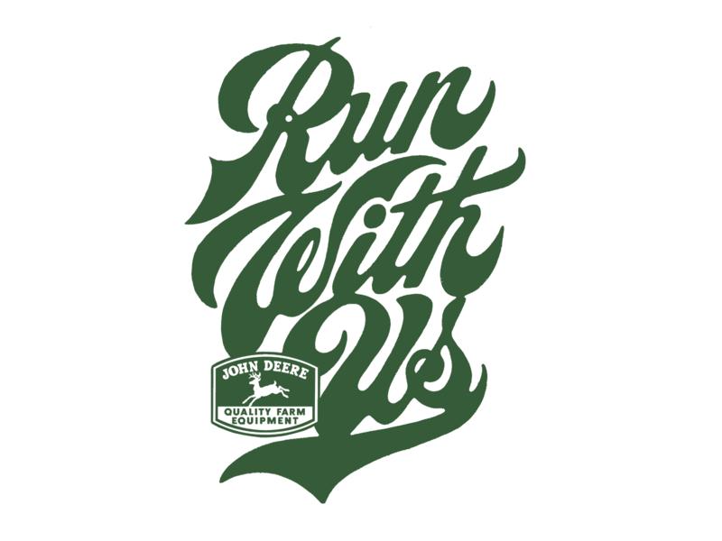 John Deere Custom Type / Handlettering calligraphy handlettering logodesign deer deere farm farming tractor apparel