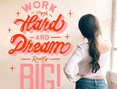 Dream Big hand lettering calligraphy handlettered art letters design type typography handlettering lettering
