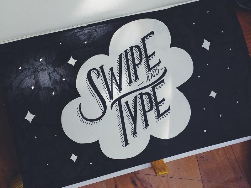 Swipe + Type Threeologie handwritten handlettering lettering brush lettering