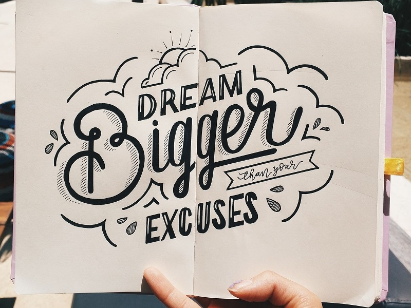 DREAM BIG calligraphy typography handlettering lettering