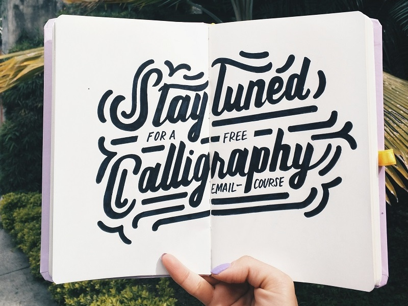 Free E Course! calligraphy typography handlettering lettering