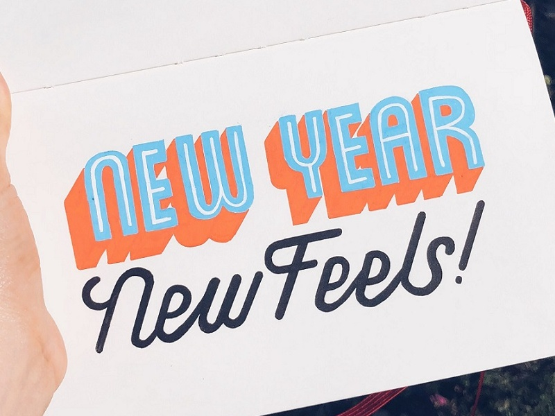 Happy New Year Lettering! typography type letters lettering handlettering