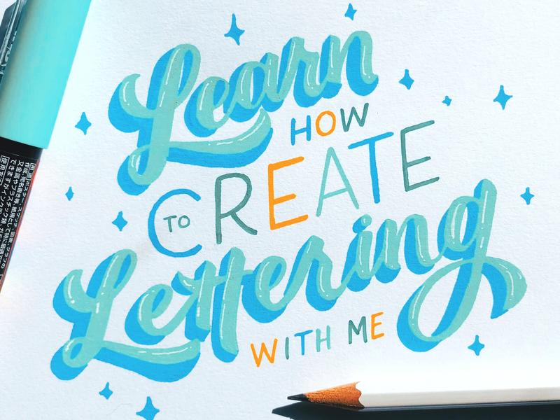 Learn how to Create Handlettering illustration graphic design hand lettering handwritten brush lettering calligraphy handlettered type art design typography lettering letters handlettering