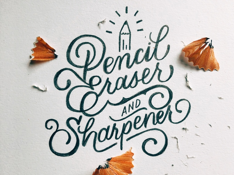 Handlettering with a Pencil! quote illustration graphic design handwritten calligraphy handlettered art design type lettering typography letters handlettering