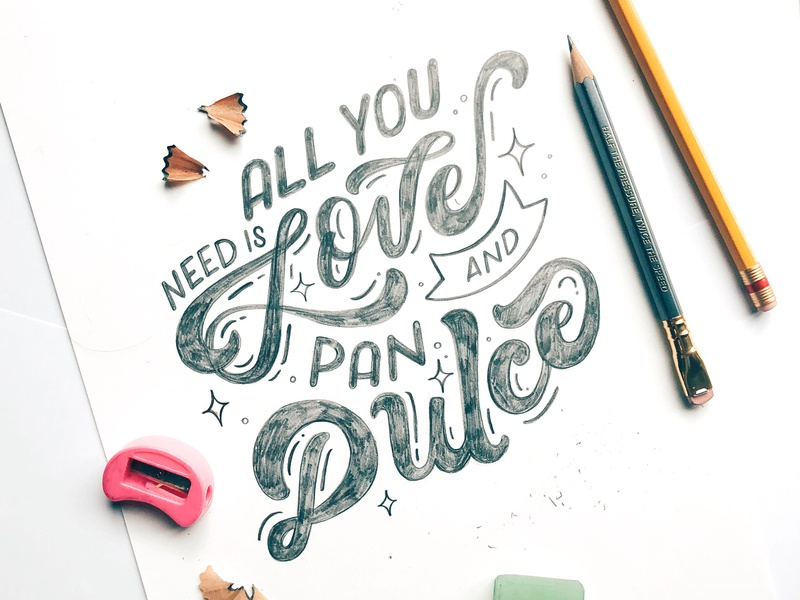 Love And Pan Dulce type typography lettering letters handlettering