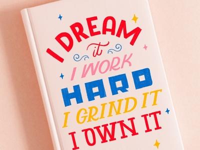 Dream It Lettering