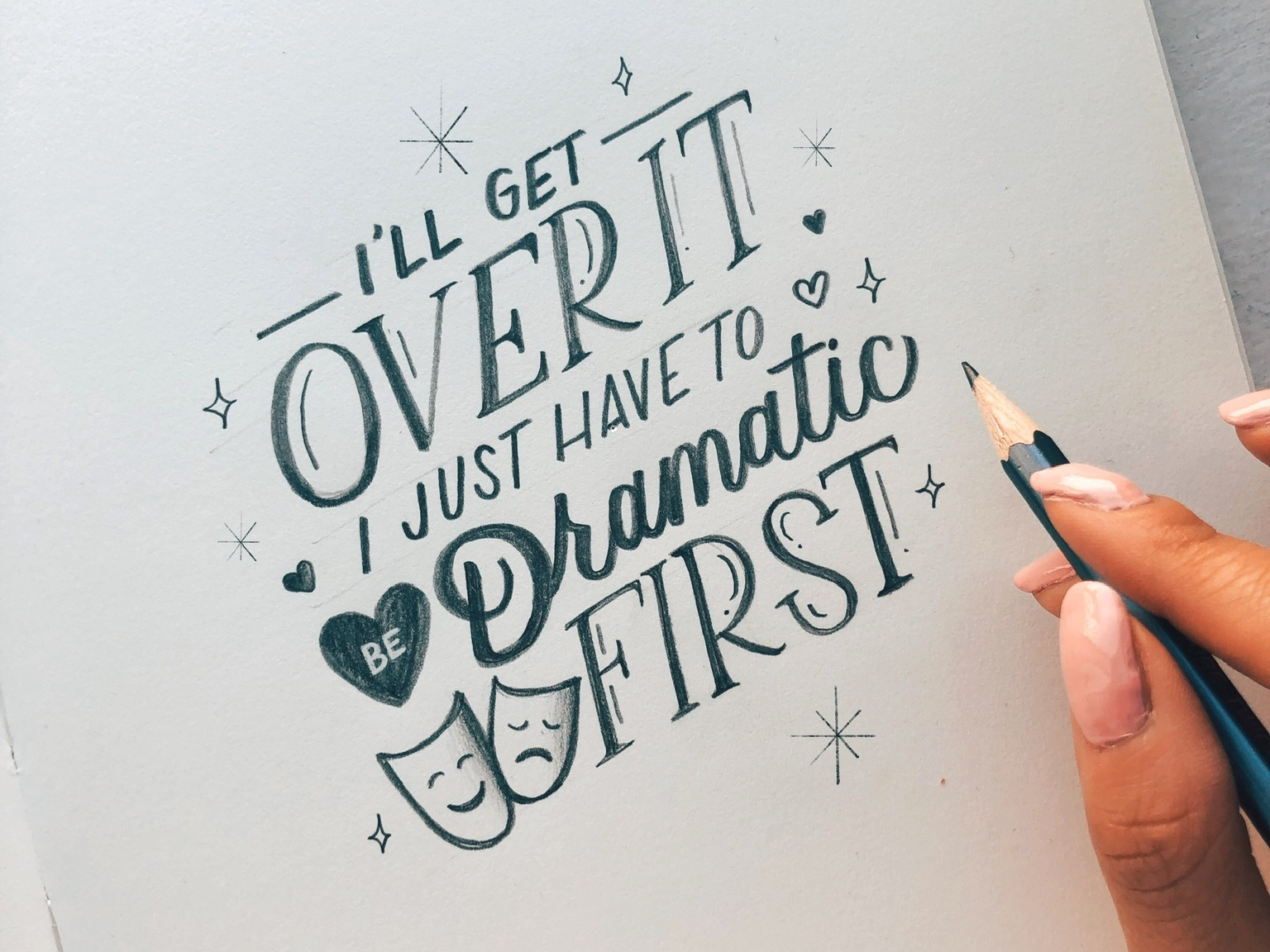 Dramatic Lettering illustration brush lettering handwritten calligraphy hand lettering handlettered design art type typography letters lettering handlettering