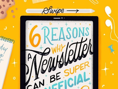 6 Reasons you Need a Newsletter handwritten hand lettering calligraphy handlettered design type typography letters lettering handlettering