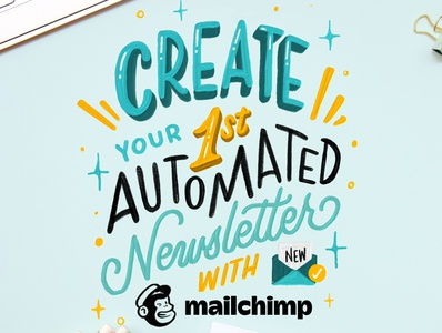 Create Your 1st Automated Newsletter hand lettering calligraphy handlettered design art type typography letters lettering handlettering