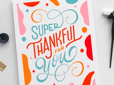 Thank You Card hand lettering calligraphy handlettered lettering design art type typography letters handlettering