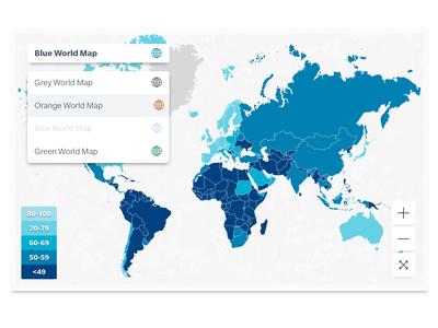 World Map interactive map maps