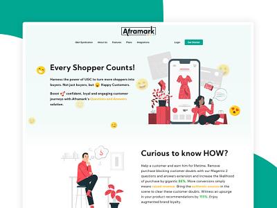 AFRAMARK- Syndicating Q&A solution for eCommerce design adobexd ecommerce design ecommerce branding web designs ux ui website designer web designer qa website ui syndicated