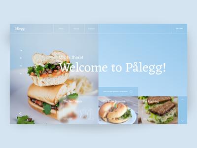 Palegg Sandwich Artists clean modern interface food sandwich metro norway uiux concept web design
