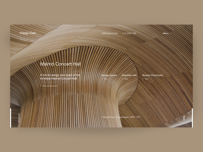 Haag+Das Architecture typography minimal web design uiux landing page architecture architect clean