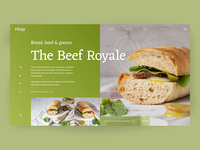 Palegg Beef Royale Page web design concept uiux norway metro sandwich food interface modern clean