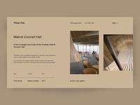Haag+Das Malmö Concert Hall Case Study