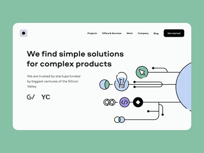 Web design – simple solutions for complex products vector animation web ui ux illustration design