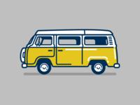 Vintage Volkswagon Bus Icon