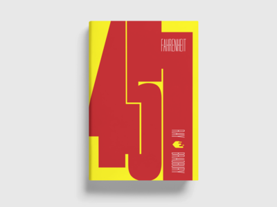 "Redesign of ""Fahrenheit 451"" book cover"