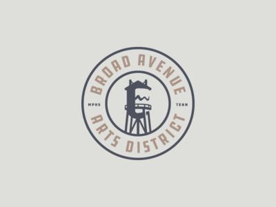 Broad Avenue arts District Seal