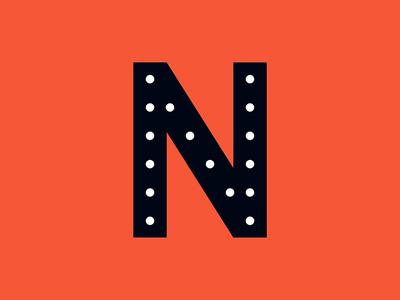 Letters typography illustration letter dropcap n