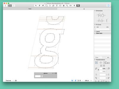 Titillium italic project glyph typedesign typography titillium